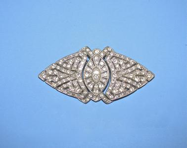 Clear rhinestone clips
