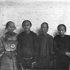 A Chinese family, with bride on left.