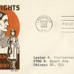 Susan B. Anthony equal rights envelope