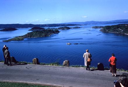 Overlooking Oslo bay fjords