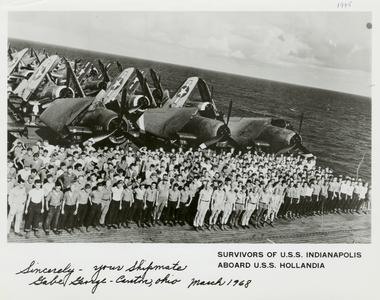 Survivors of U.S.S. Indianapolis aboard U.S.S. Hollandia