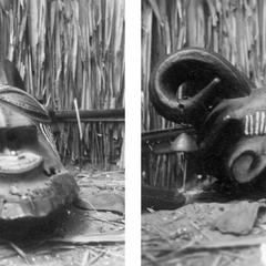 Kuba-Kete Horned Mask