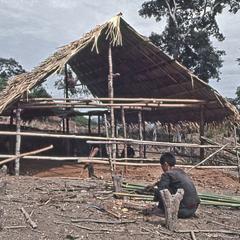 Building a hut