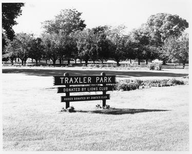 Traxler Park sign