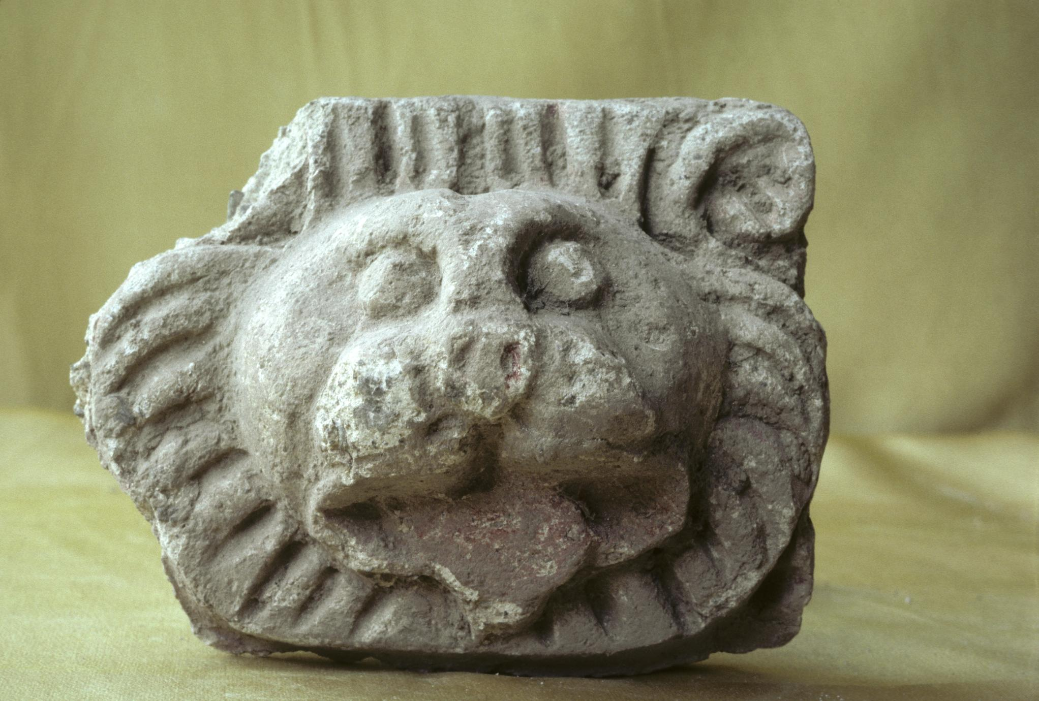 NG355, Stucco Lion Head (1 of 2)