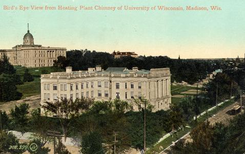 Chamberlin Hall and Bascom Hall, ca. 1905-1916