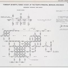 [Public Land Survey System map: Wisconsin Township 28 North, Range 13 East]