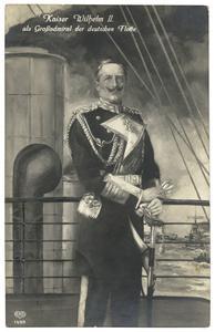 Kaiser Wilhelm II. as Großadmiral der deutschen Flotte