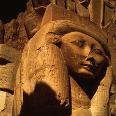 Face of Goddess Hathor at Karnak