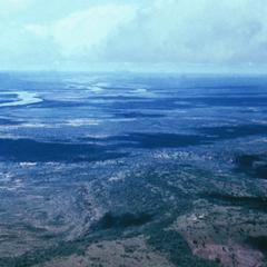 Aerial View of the Niger River and Surrounding Savanna During the Rainy Season
