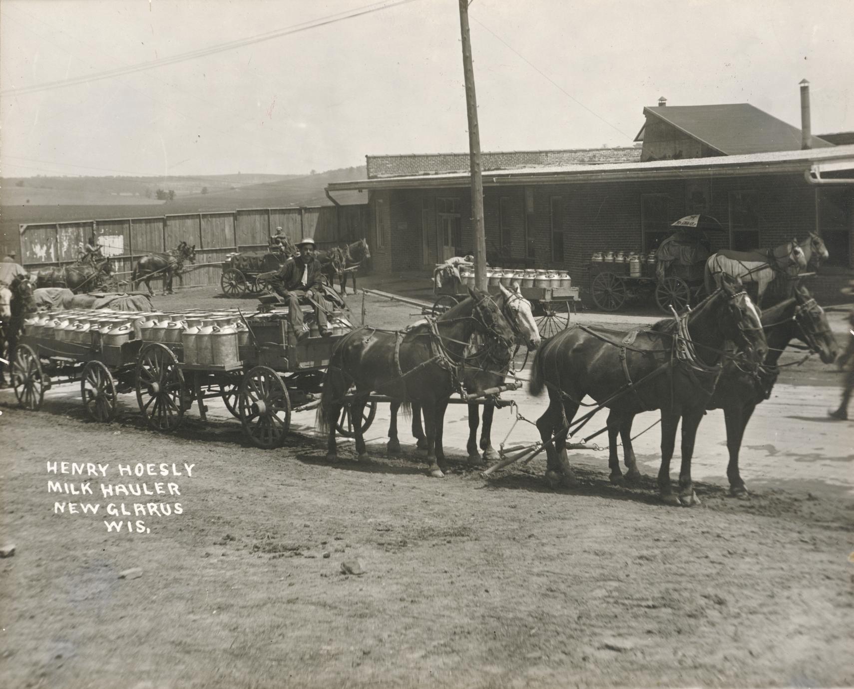 Henry Hoesly, milk hauler