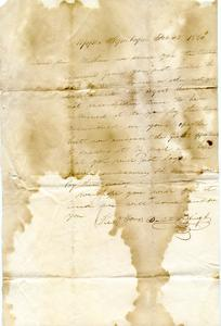 Letter from Bartell Griffing, Jr. to Major Felix Dominy