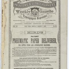 Woodcock's printers' and lithographers' weekly gazette