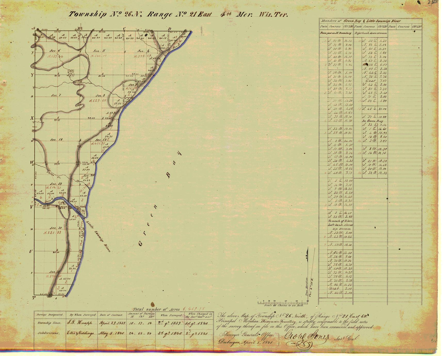 [Public Land Survey System map: Wisconsin Township 26 North, Range 21 East]