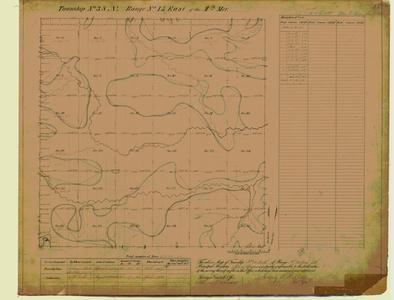 [Public Land Survey System map: Wisconsin Township 38 North, Range 15 East]