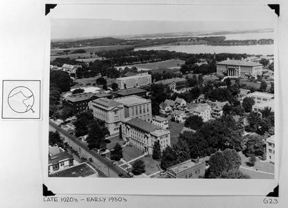 Aerial, UW-Madison, ca. 1925-1935