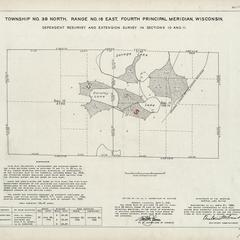 [Public Land Survey System map: Wisconsin Township 39 North, Range 16 East]