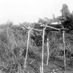 A Rest Stand for Headload Baskets Near a Kuba-Ngongo Village