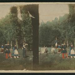 Le bivouac, août 1860