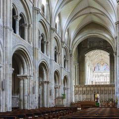 Christchurch Priory nave looking east