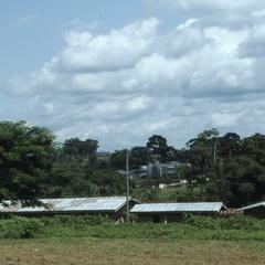 Iloko school grounds in the distance