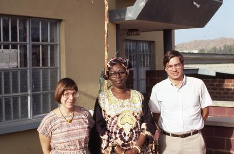 Shonekans, Lillian Trager, and Dick Ammann