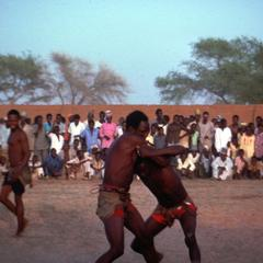 Two Hausa Wrestlers During a Match in Zinder Region