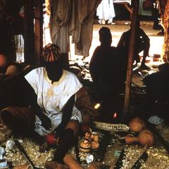 Calabash Carver at Work in Niger