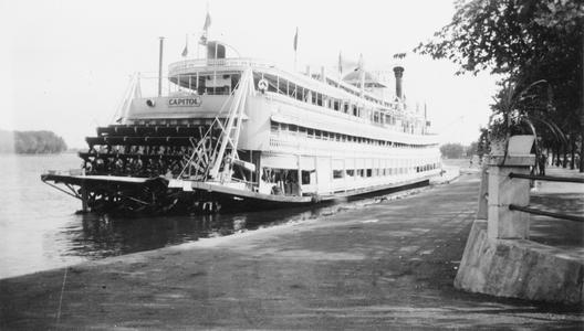 Stern view of the Capitol at shore