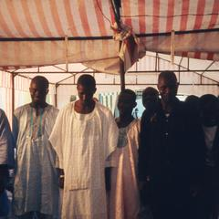 Men attending the wedding