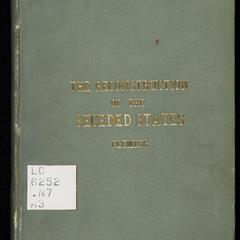 The reconstruction of the seceded states, 1865-76