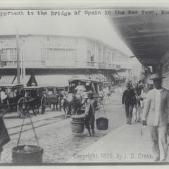Approach to the Bridge of Spain, Newtown, Manila, 1899