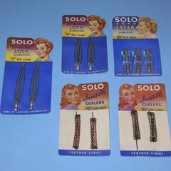 Solo brand curlers on original cards