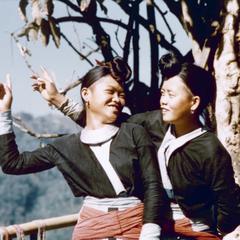 Two White Hmong young women in Houa Khong Province