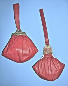 Red leather purses