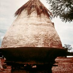 Raised Granary of Packed Earth Construction in Savannah Region of Northern Ghana