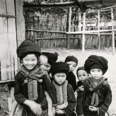 Yao (Iu Mien) children in their village in the vicinity of Muang Vang Vieng in Vientiane Province