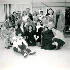 Students on Halloween