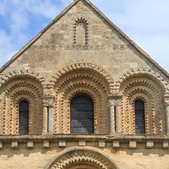 Iffley St Mary Church, west end gable