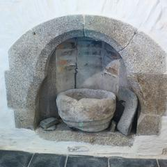Tintagel St Materiana Blessed Sacrament chapel Norman font bowl