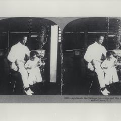 Aguinaldo and his son, Manila, 1906