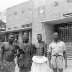 The Chief of Kuba-Bieng with Counselors in Front of the Mweka Post Office