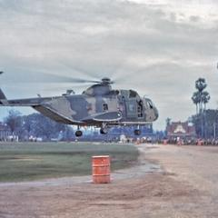 Sikorsky helicopter taking off