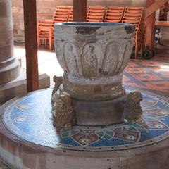 Hereford Cathedral Norman baptismal font