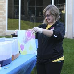 Tie dye 50th anniversary, University of Wisconsin--Marshfield/Wood County, 2014