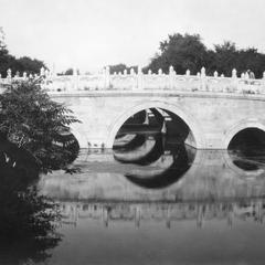The three arch Golden Water Bridge in the Zijin Cheng (Forbidden City) 紫禁城.