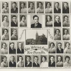 1934 Swiss Reformed Church confirmation class