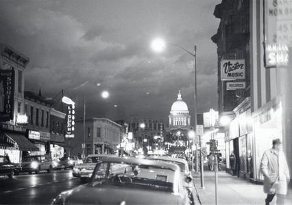 State Street at night