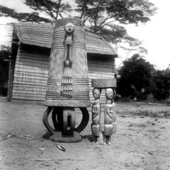 Kuba-Ngende Drum and Stool Tourist Art on Sale Along Railway Line