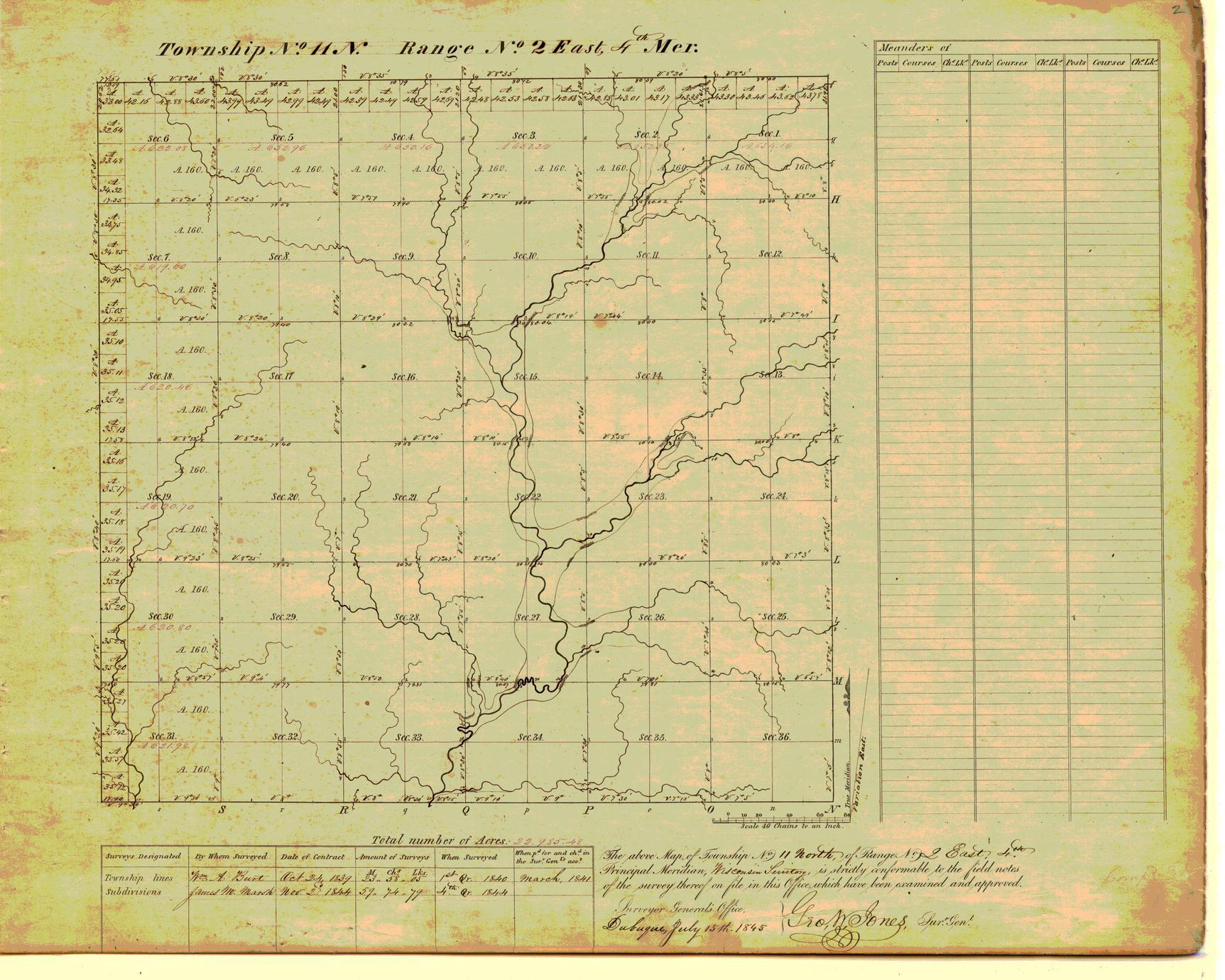 [Public Land Survey System map: Wisconsin Township 11 North, Range 02 East]